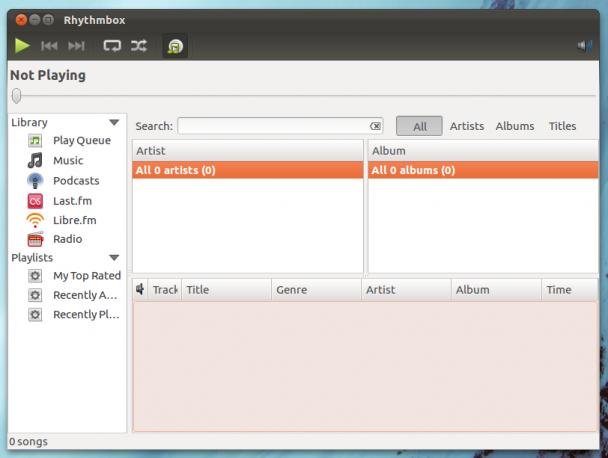 rhythmbox default 12.04
