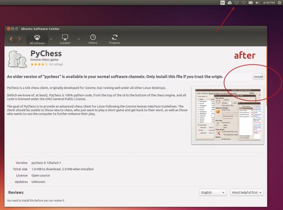 ubuntu software center after network disabled