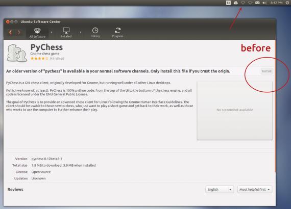 ubuntu software center before