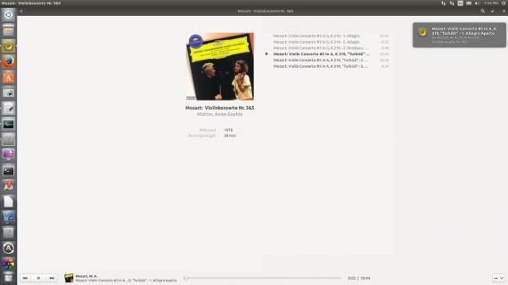 gnome music album subview