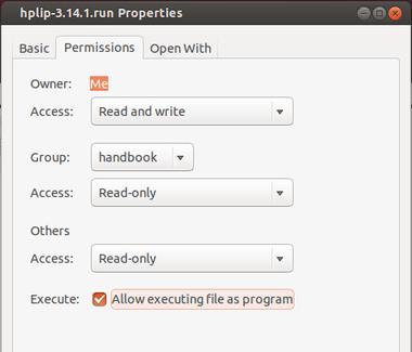 make-hplip-run-executable