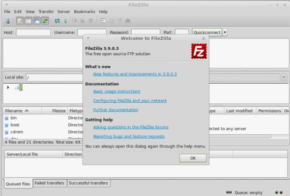 FileZilla 3.9.0.3