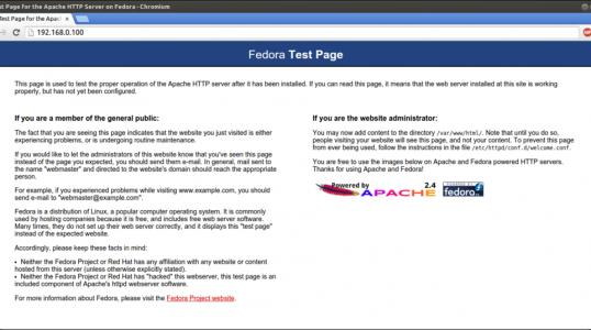 Fedora 21 安装 LAMP 主机服务器