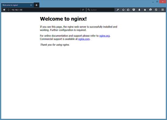 The Ubuntu Nginx default page.