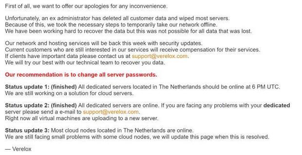 国外某公司前员工删了该公司所有客户数据国外某公司前员工删了该公司所有客户数据