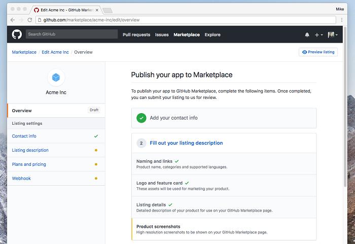 开发者现已能够将应用免费上传至GitHub市场开发者现已能够将应用免费上传至GitHub市场