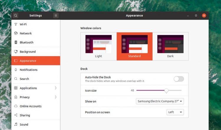Ubuntu 20.04中的暗模式设置