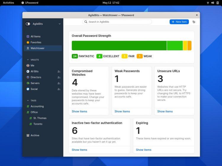 1运行Fedora的密码Linux应用
